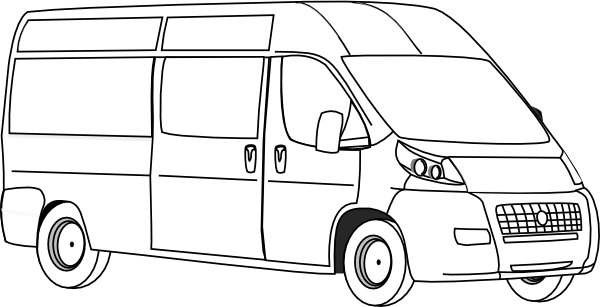 Vans clipart black and white Outline Van Clip this image