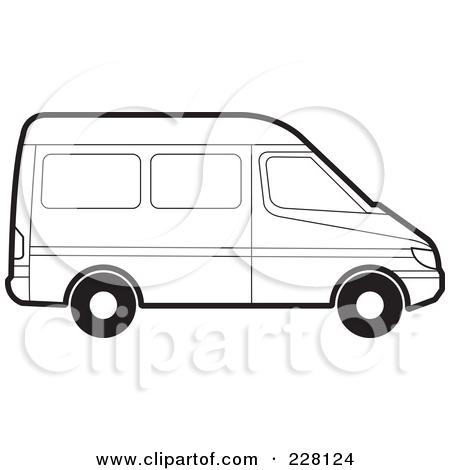 Vans clipart black and white White And Clipart Minivan Clipart