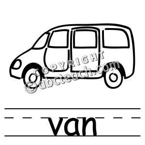 Vans clipart black and white Art Clip Black Clip Art