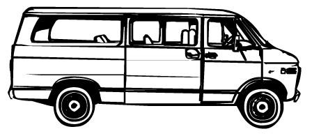 Vans clipart black and white And Black White Van Clip