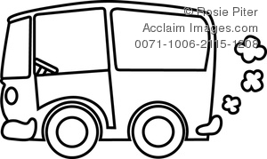 Vans clipart black and white Art Clip Church clipart ·