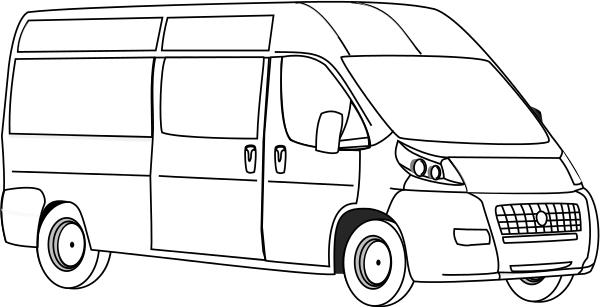 Vans clipart black and white Clipart Van Best Van Clipart