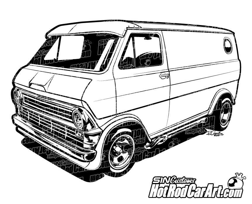Chevrolet clipart custom Econoline Van Ford  Ford