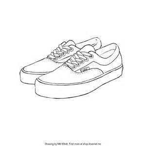 Drawn shoe vans logo Coloring Vans Pages Shoes Coloring