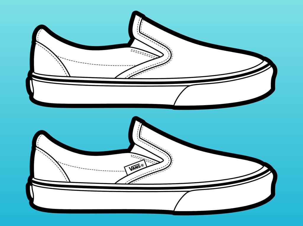 Vans clipart vans shoe Search SHOES Art Outline VANS