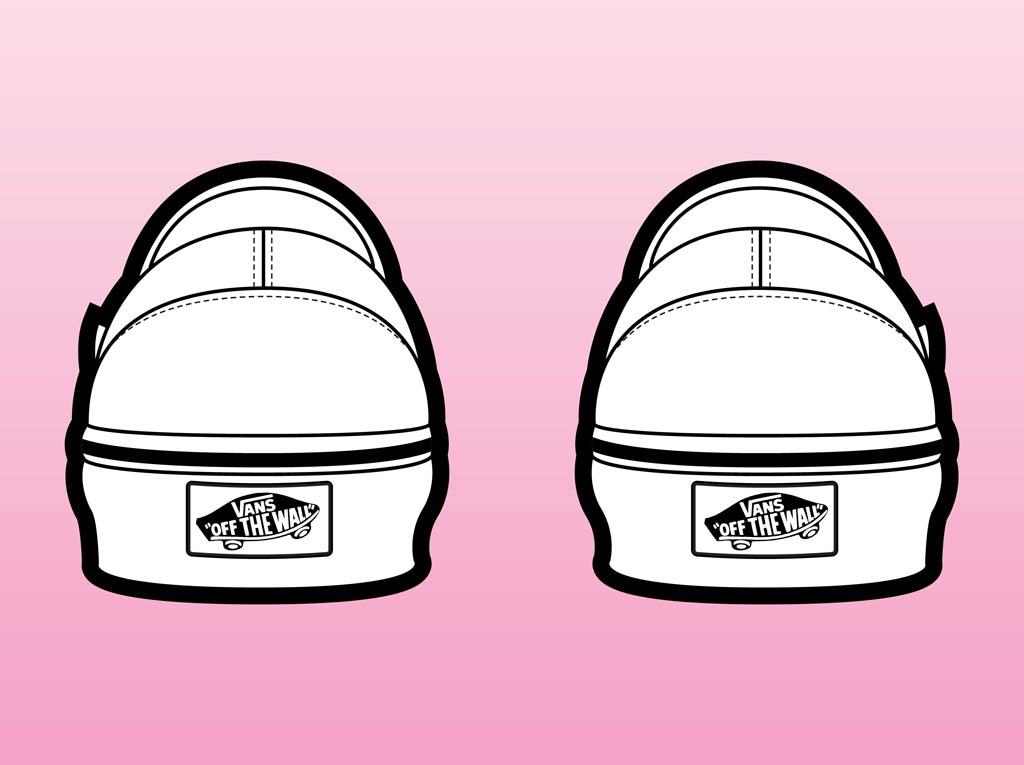 Drawn shoe vans graphic Clip Art Of Art Vans