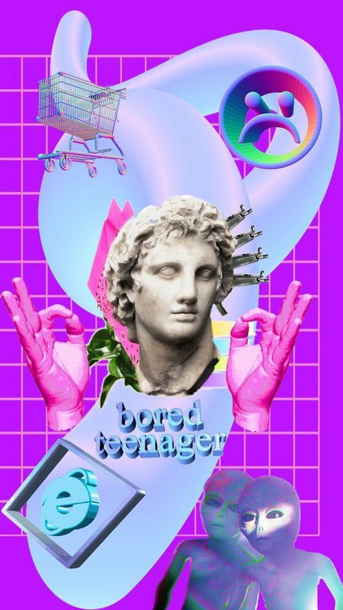 Vaporwave clipart roman bust About statue 13 Find Pinterest