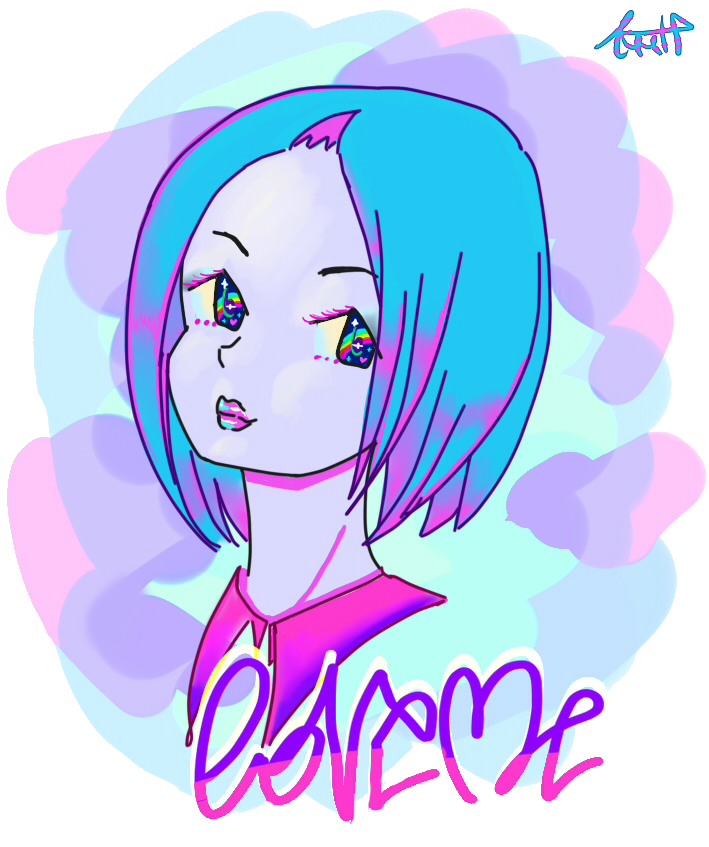 Vaporwave clipart transparent Me vaporwave art Love by