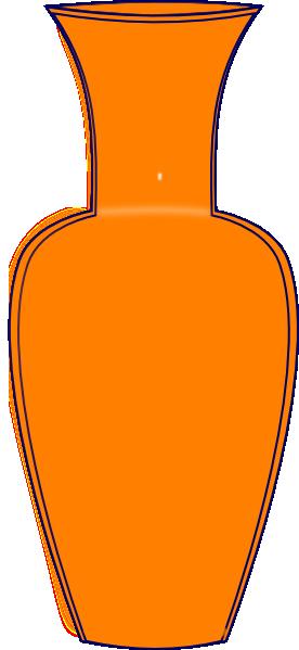 Vase clipart Clker Clip Orange this Download