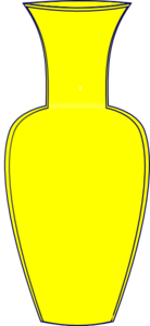 Vase clipart Clker Clip Yellow Vase Yellow