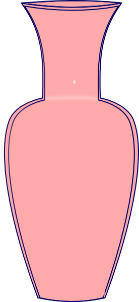 Vase clipart  Clker Clip Pink this