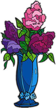 Blue Flower clipart vase Flowers flowers in blue Horizontal