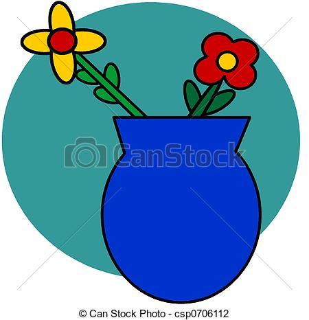 Blue Flower clipart vase Art  Clip Stock flowers