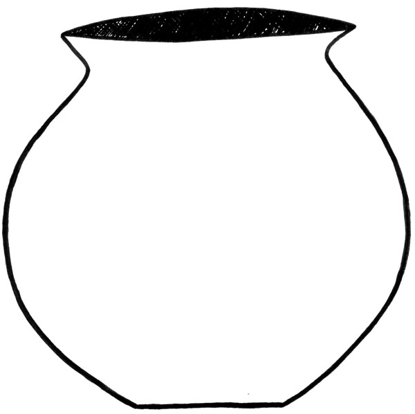 Kettle clipart outline Clip Pot Free Clay Outline