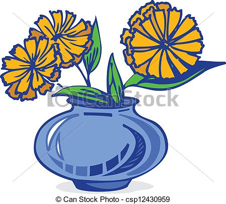 Blue Flower clipart vase Flowers of flowers a in