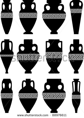 Vase clipart smashed Stock Vectors Clip Stock Greek