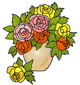Pencil clipart vase Flower Clipart Free