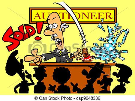 Vase clipart smashed Illustration  of selling auctioneer