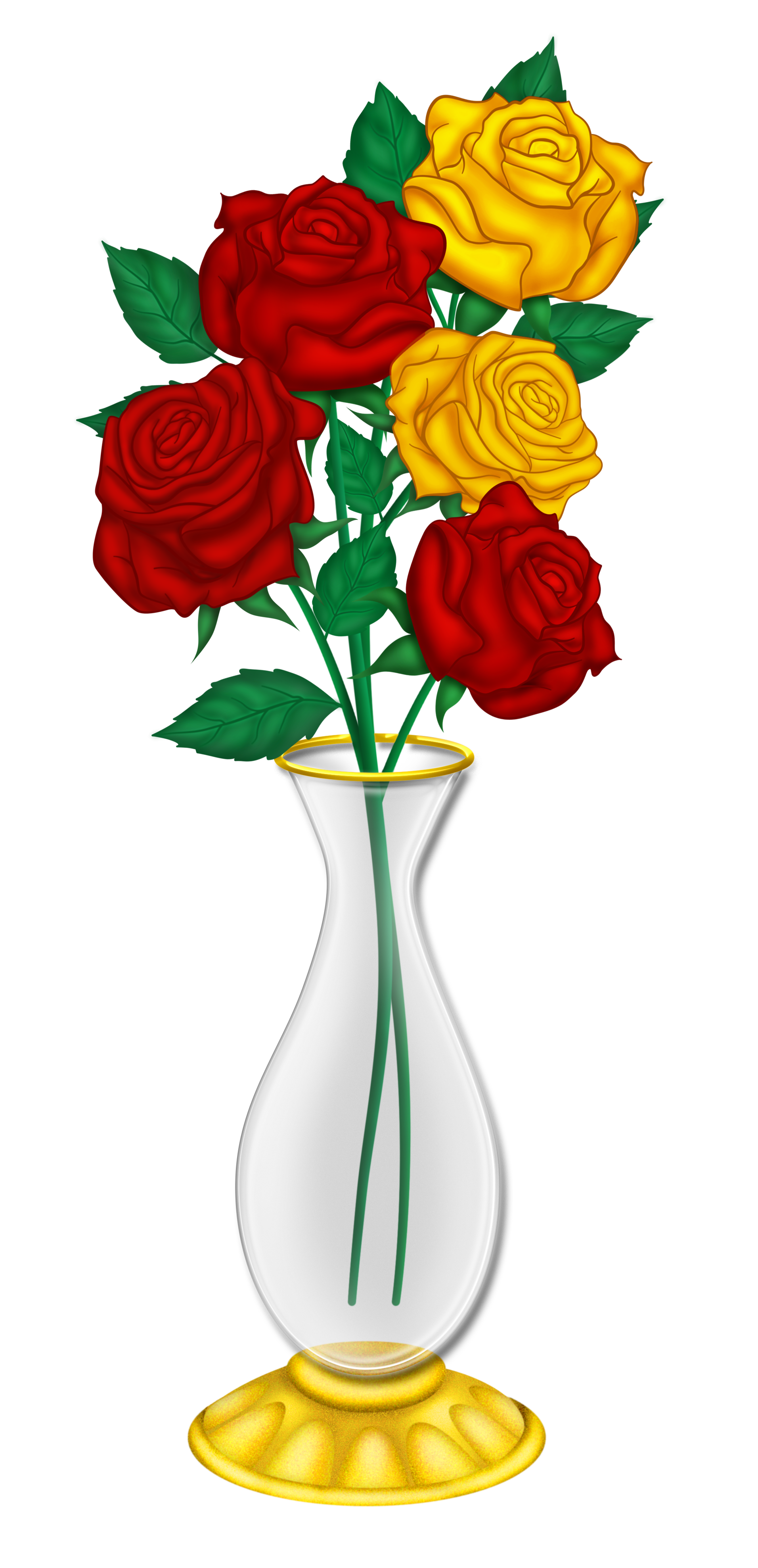 Yellow Rose clipart love flower Beautiful Vase  Picture Roses