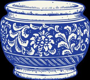 Vase clipart transparent Vector And art Blue