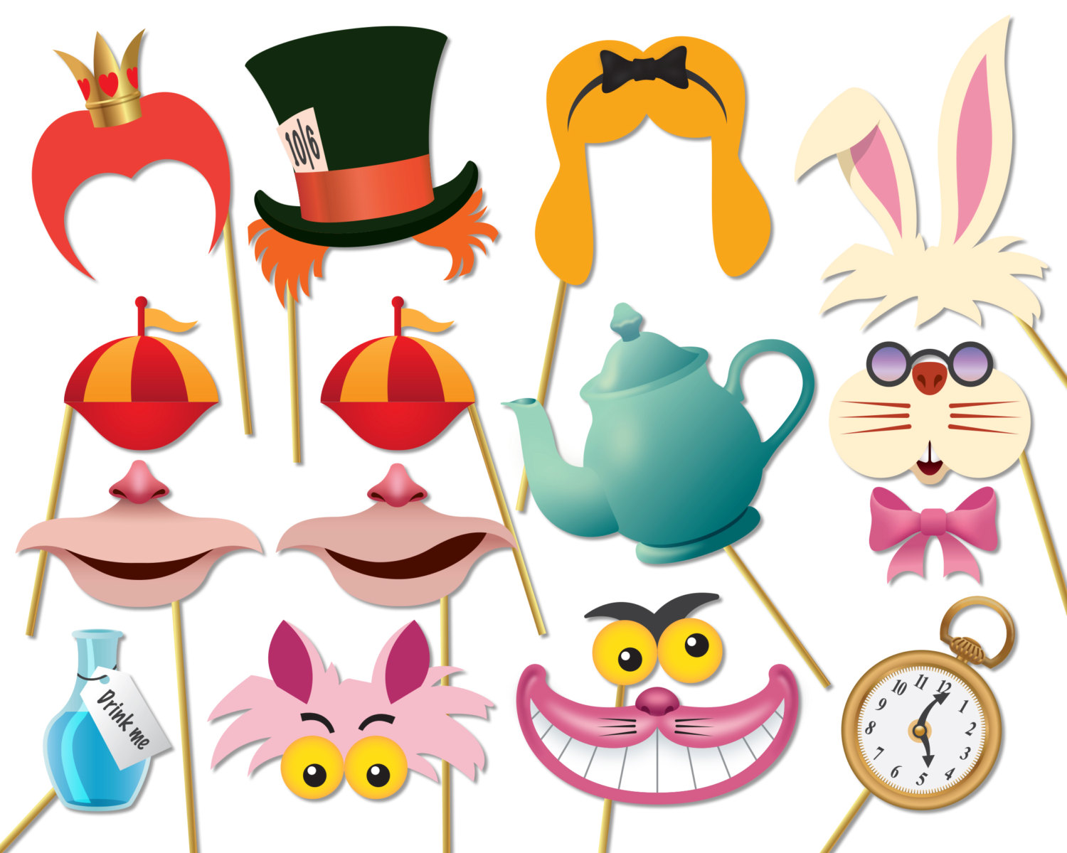 Butterfly clipart alice in wonderland Wonderland props booth photo in