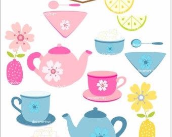 Tea Party clipart tea set Set tea tea invitation party