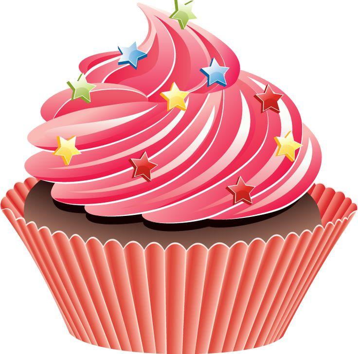 Vanilla Cupcake clipart pink cupcake Pinterest 92 Design images