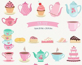 Teapot clipart tea biscuit Cupcake Tea Tea Etsy Tea