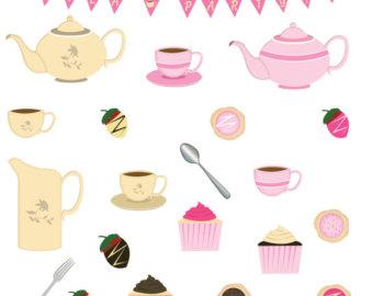 Teapot clipart tea biscuit Clipart Clipart Tea Etsy Cookies
