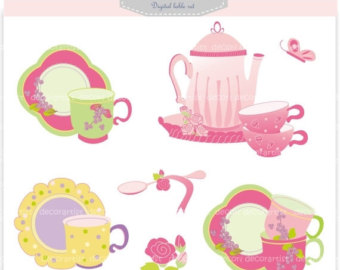 Tea Party clipart coffee morning Cup Pink party tea cup