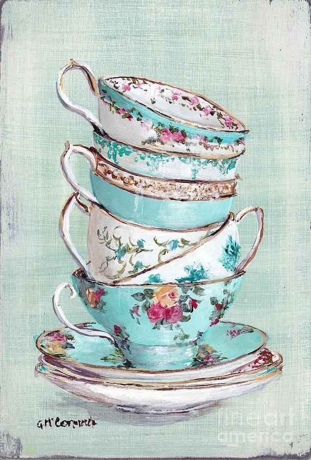 Teapot clipart teacup stack Clip Stacked Tea Tea Aqua
