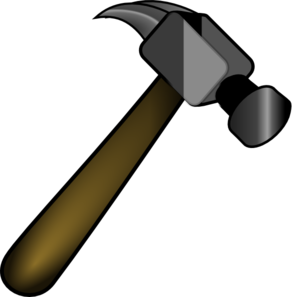 Vector clipart hammer #5