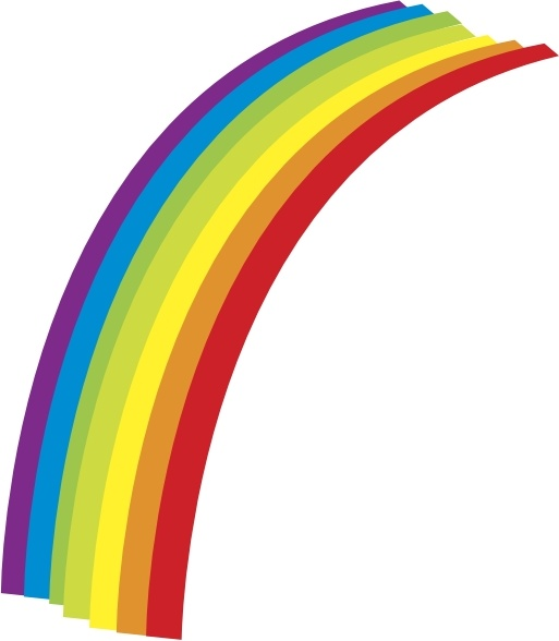 Vector clipart rainbow #13