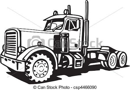 Drawn truck 18 wheeler  Truck csp4466090 Search csp4466090