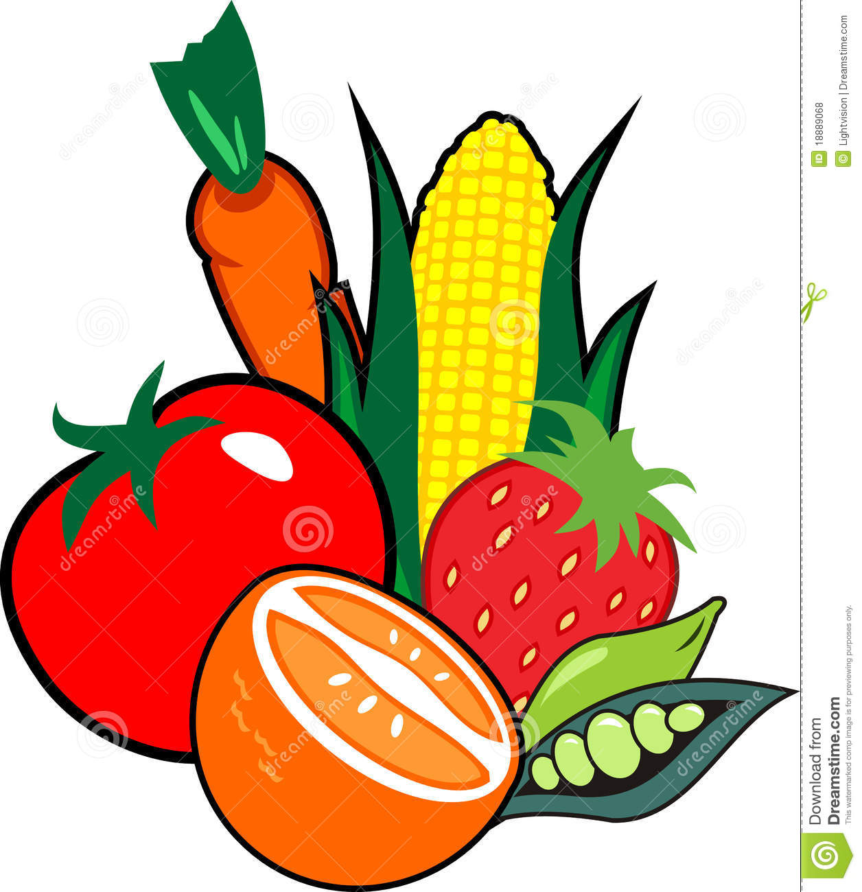 Fruits & Vegetables clipart #4