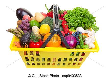 Fruits & Vegetables clipart basket drawing Basket csp9403833 basket yellow of