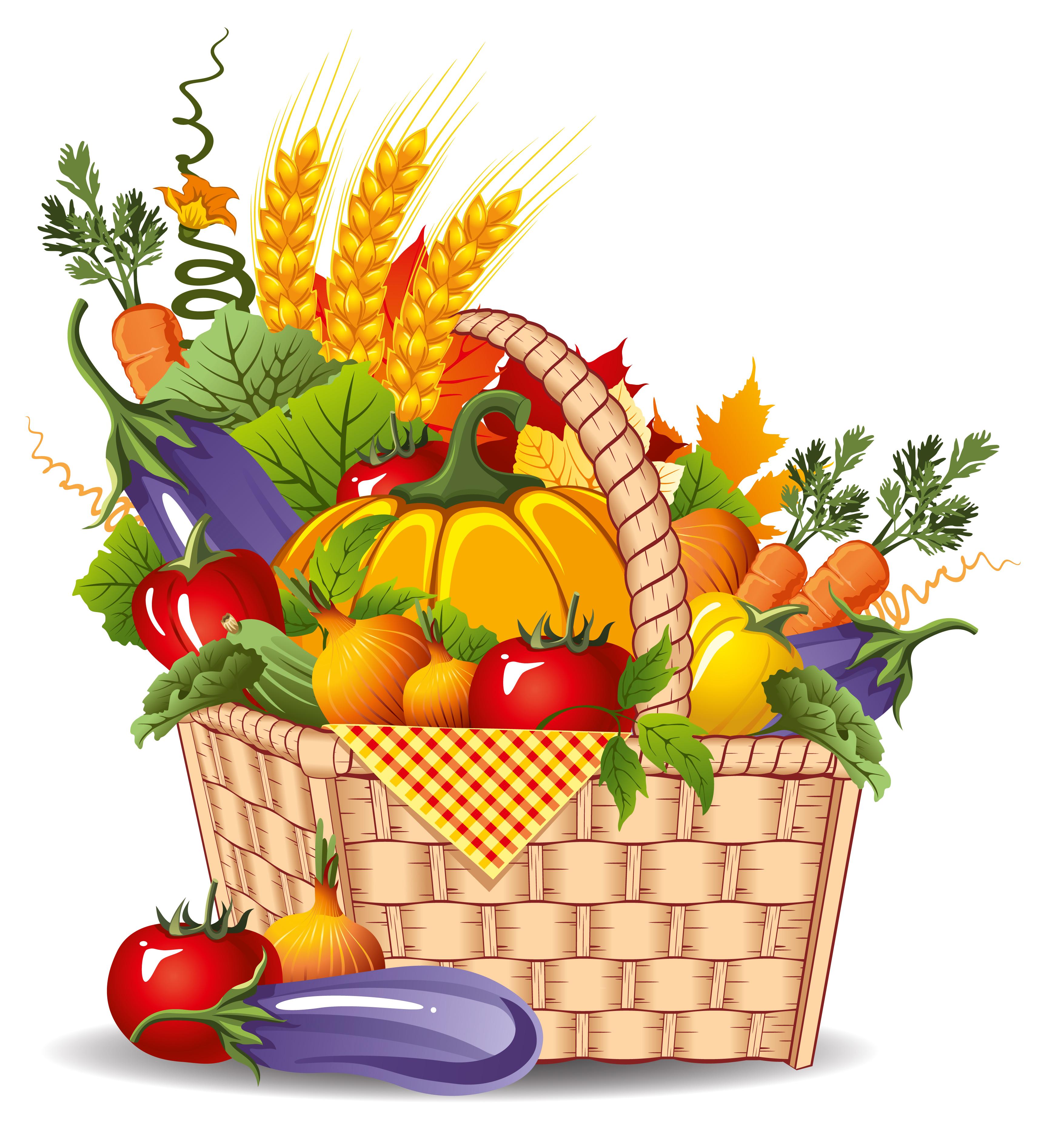 Fruits & Vegetables clipart vegetable farm Clip Download of Art Basket