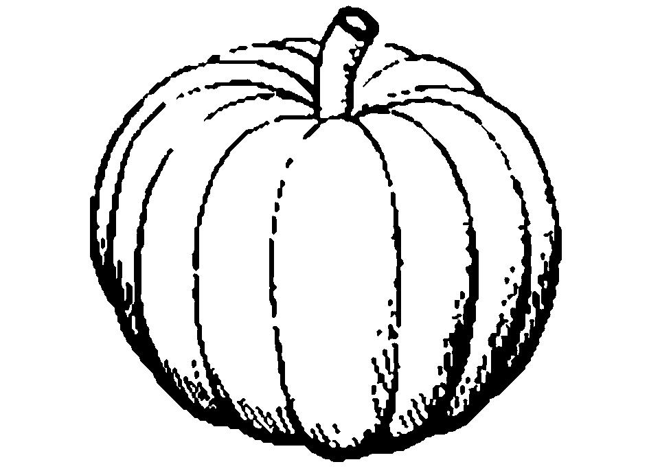 Black & White clipart fruit Free Fruits Pumpkin Clip Free