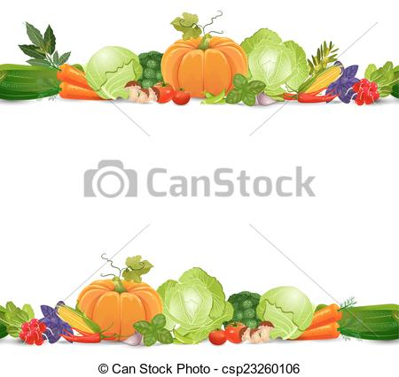 Vegetable clipart border Vegetables border isolated of and