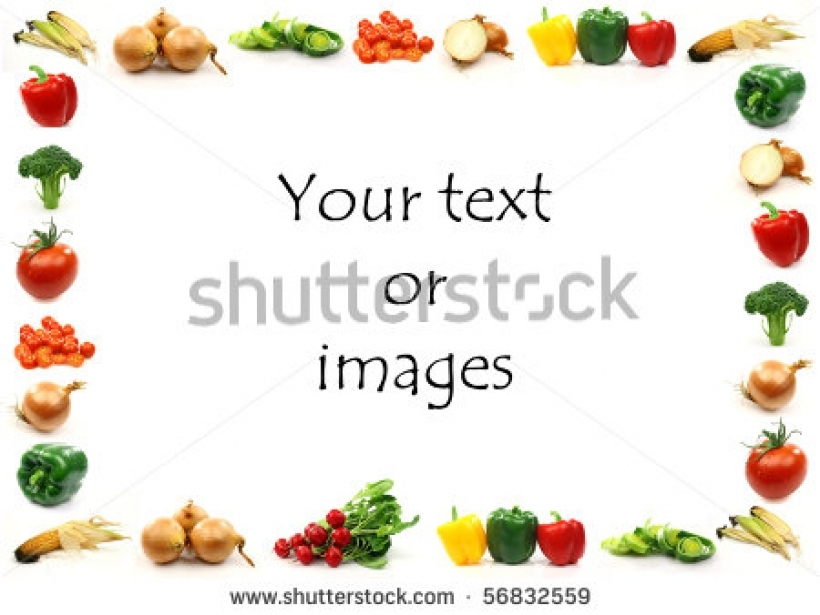 Vegetable clipart border Free vegetable border clip and