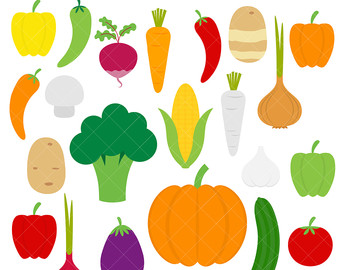 Carrot clipart food item / Onion Carrot Veggies Broccoli