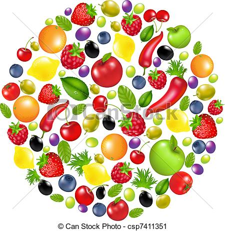Vegetable clipart circle Circle And csp7411351 From From