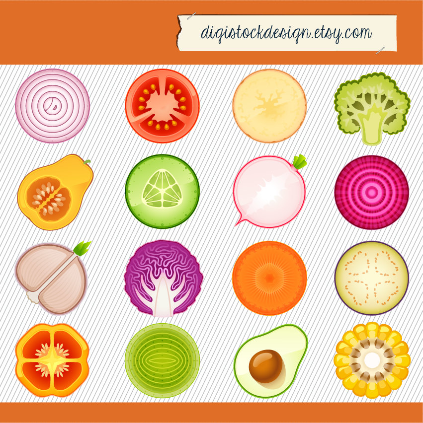 Vegetable clipart circle Clipart Icon Etsy Cliparts images