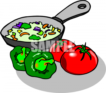 Baking clipart food prep Skillet Cooking and Food