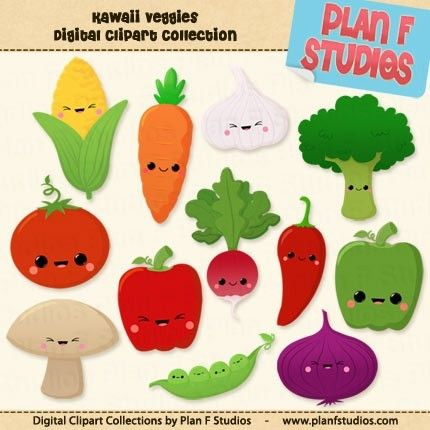 Vegetable clipart cute Cute Download Kawaii on 33