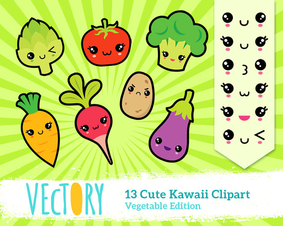 Vegetable clipart cute Carrot Clipart Food Kawaii 13