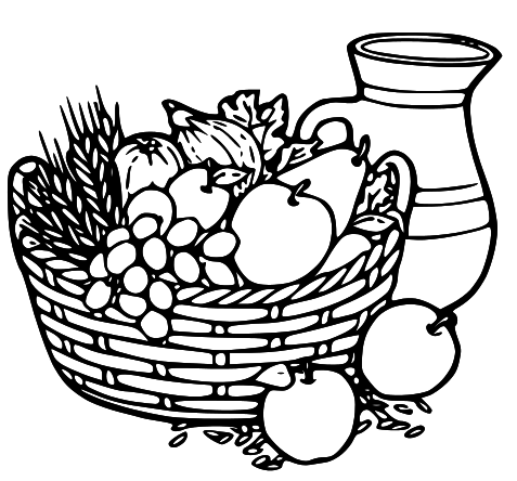Fruits & Vegetables clipart basket drawing White fruit and white Clip