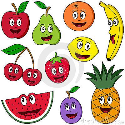 Watermelon clipart funny fruit Cartoon fruits to clip art