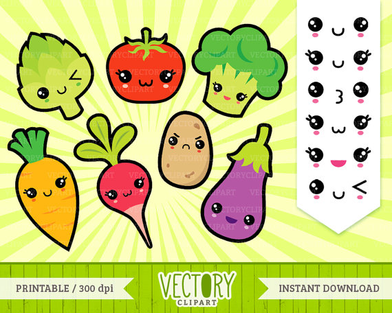 Carrot clipart healthy food Food VectoryClipart 13 Healthy Kawaii