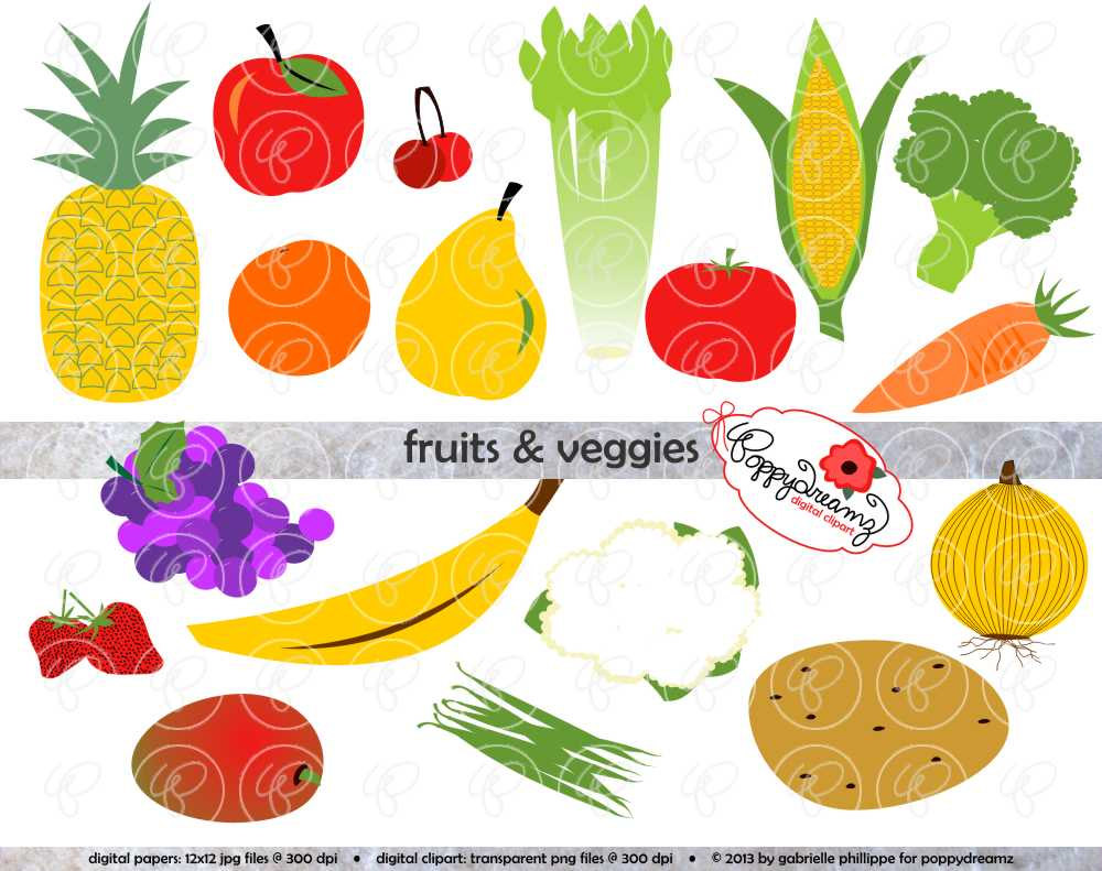 Vegetable clipart vector 300 dpi Clip Pack transparent